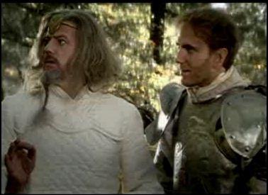 Selon Merlin, quel âge a la louve blessée, qui a fait une chute après un éboulement ?