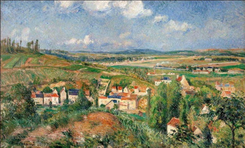 """Qui a peint le tableau """"L'Hermitage en été, Pontoise"""" ?"""