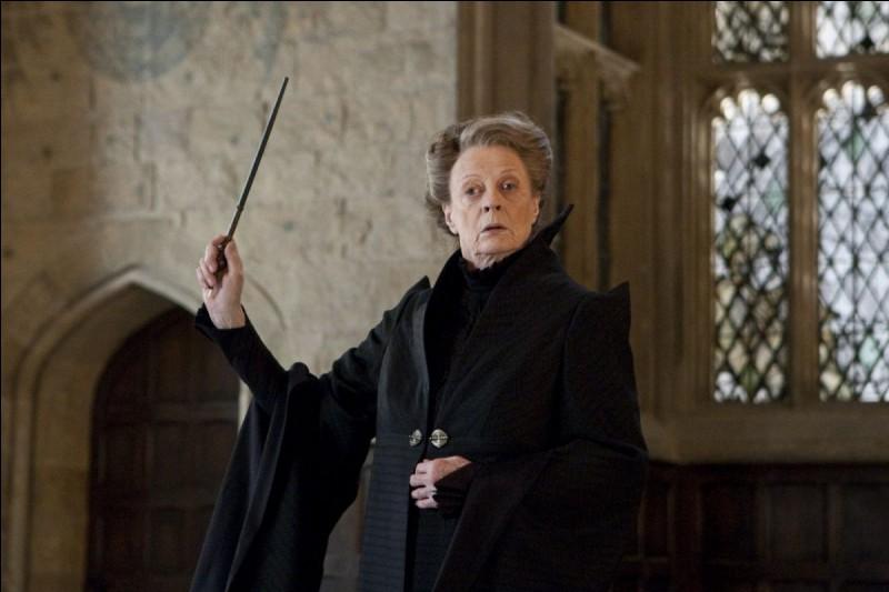 Sur quelle matière travaille le professeur McGonagall ?