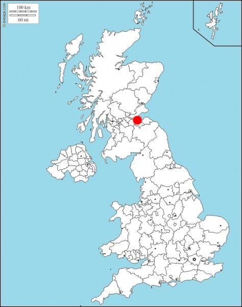 Quelle est la ville en rouge sur la carte ?