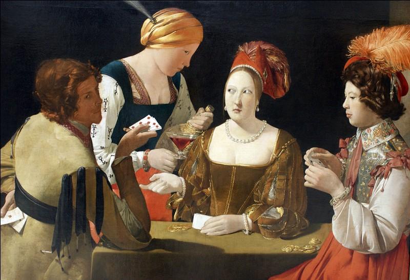 """Complétez le titre de ce tableau peint par Georges de la Tour : """"Le tricheur à l'as de …""""."""