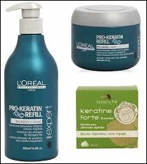 De nombreux produits cosmétiques contiennent de la kératine... Trouvez ce qui contient le plus de kératine parmi les propositions suivantes :
