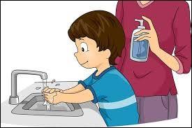Je me lave les mains avant chaque repas.