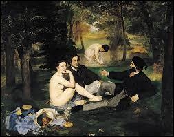 """""""Le Déjeuner sur l'herbe"""" est une peinture de Claude Monet."""