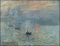 """Qui a peint ce tableau intitulé """"Impression, soleil levant"""" ?"""