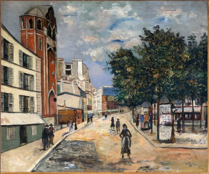 """Ce peintre, auteur de cette """"Place des Abbesses"""", c'est ... Utrillo."""