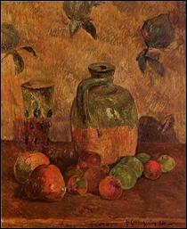 """Qui a peint """"Pomme, carafe, verre irisé"""" ?"""