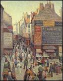 """Le peintre néo-impressionniste, auteur de ce tableau """"la rue Mouffetard"""", c'est ... Luce"""