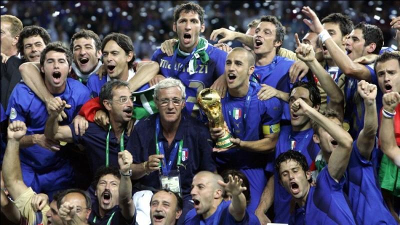 L'édition 2006 de la Coupe du monde de football a été remportée par l'Italie.