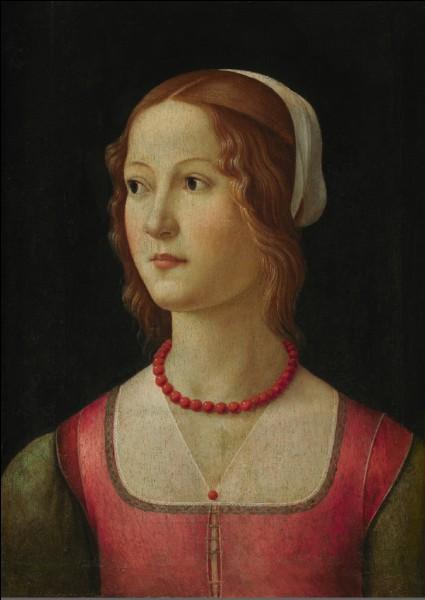 """Quel artiste italien de la Renaissance a peint ce """"Portrait de femme"""" ?"""