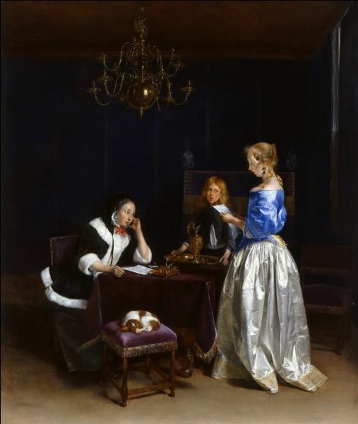 """Quel peintre hollandais du XVIIe est l'auteur du tableau """"La lecture de lettre"""" ?"""