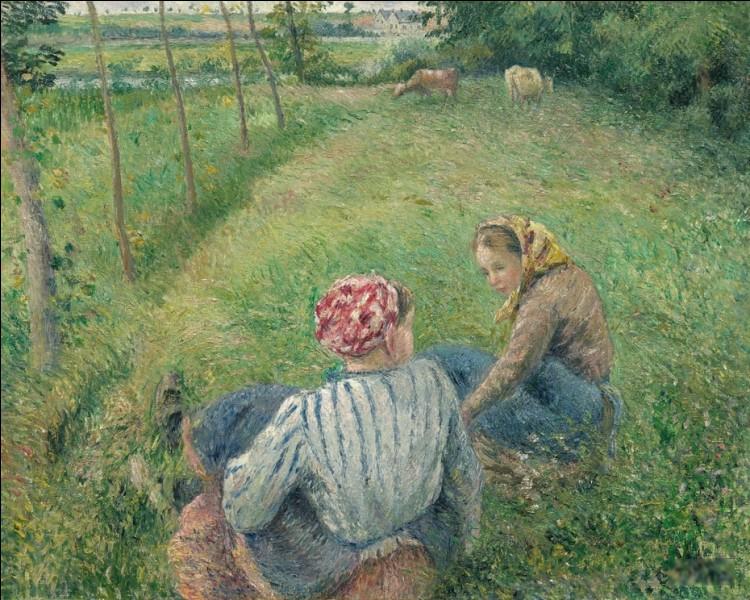 """Qui a peint """"Paysannes se reposant dans les champs"""" ?"""