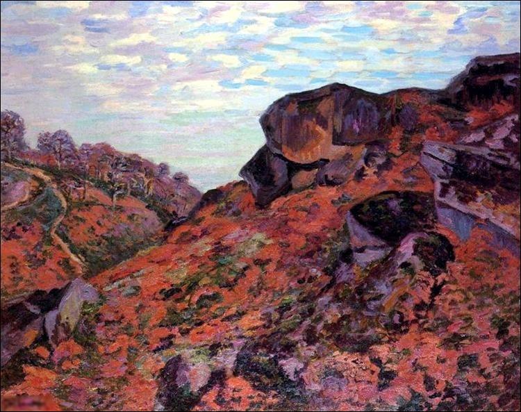 """Quel peintre est l'auteur du tableau """"Crozant, les monts Sedelle, matin"""" ?"""
