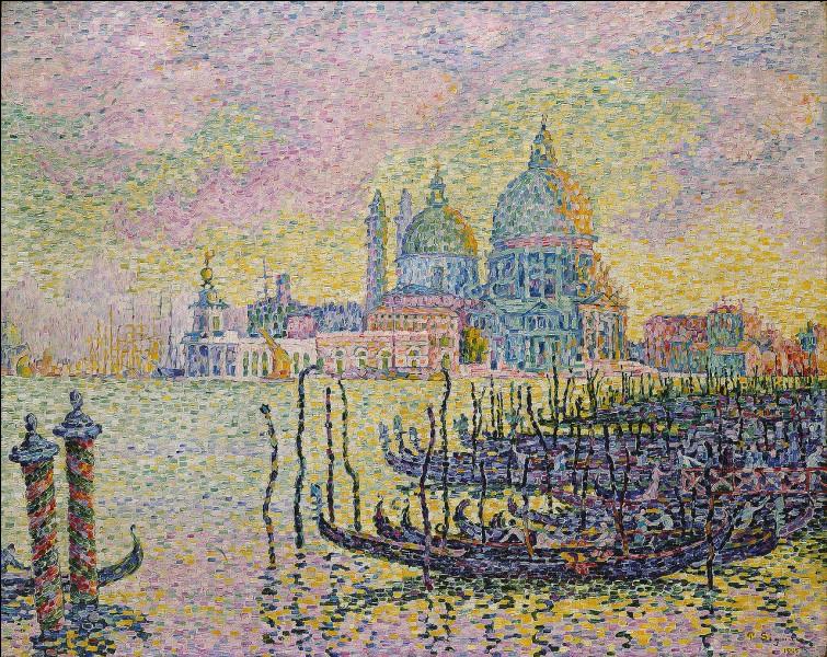 """""""Grand canal, Venise"""" est une œuvre pointilliste de..."""
