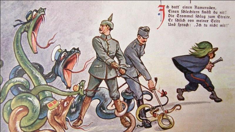 Qui rejoignit la Triple-Alliance en 1914 ?
