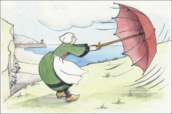 Une personne ayant une peur exagérée du grand air, du vent, souffre...