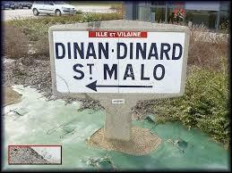 Dinan et Dinard sont deux villes bretonnes situées dans le même département.