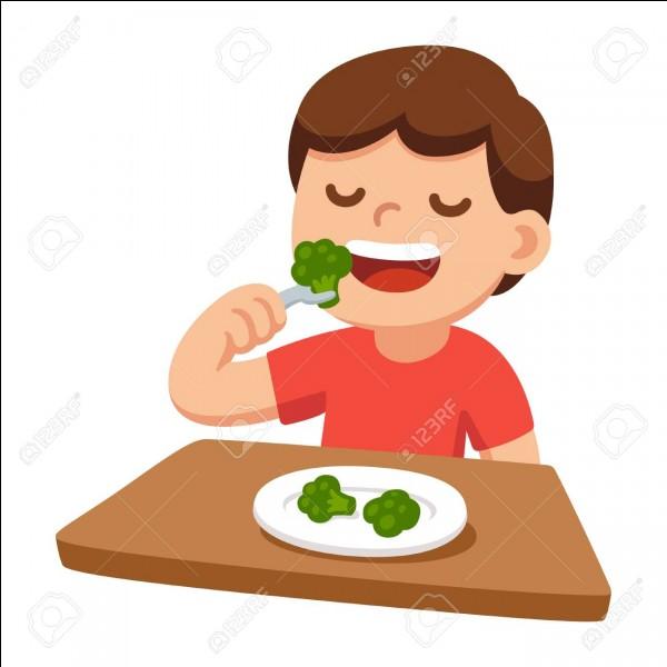 Cochez la définition de ''bien manger'', dans le sens d'avoir une alimentation saine.