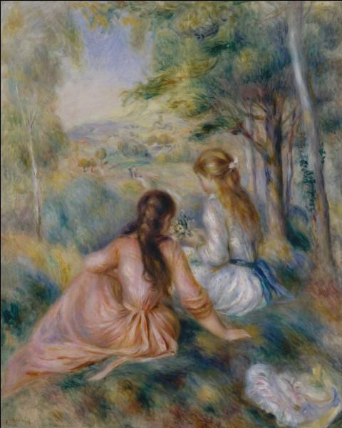 """Complétez le titre de ce tableau peint par Auguste Renoir : """"La … des fleurs""""."""