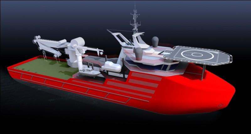 Lui a pour mission la réparation sous-marine, comme les câbles internet. Comment s'appelle la plateforme au-dessus de la passerelle ?