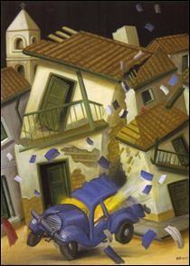 """Qui a peint """"Voiture piégée"""" (car bomb) ?"""