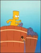 """Dans """"L'Espion qui venait de chez moi"""", où Bart est-il envoyé ?"""