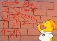 """Dans """"Bart le génie"""", qui dénonce Bart d'avoir vandalisé un mur de l'école ?"""