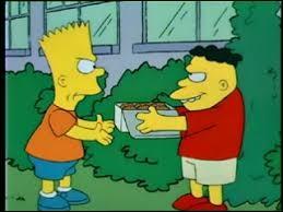 """Dans """"Terreur à la récré"""", contre qui Bart doit-il se battre ?"""