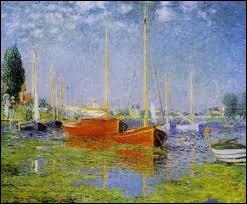 """Qui a peint """"Les bateaux rouges, Argenteuil"""" ?"""