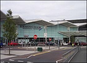 Dans quel pays se situe l'aéroport de Birmingham ?