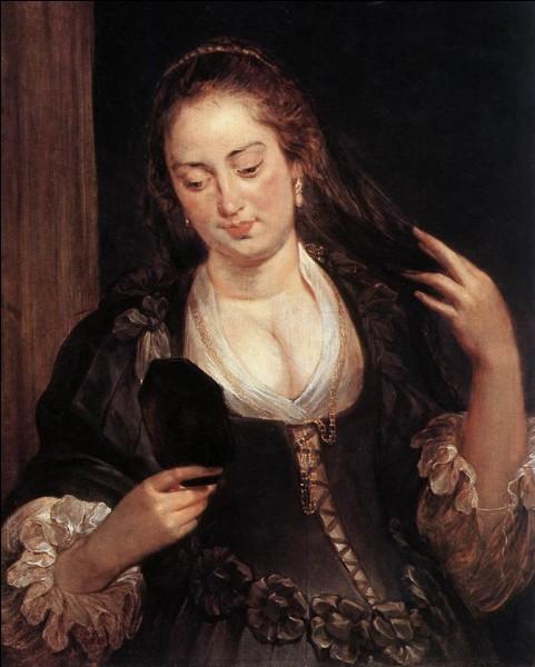 """Quel peintre du XVIIe est l'auteur du tableau """"Femme avec un miroir"""" ?"""