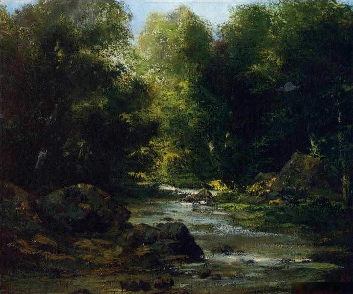 """""""Paysage de rivière"""" est l'œuvre de quel peintre réaliste français ?"""