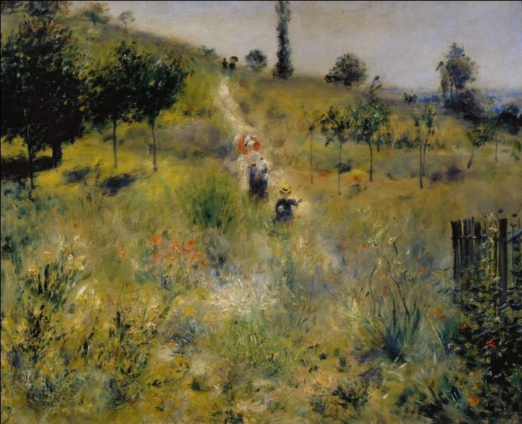 """Qui a réalisé le tableau """"Chemin montant dans les hautes herbes"""" ?"""