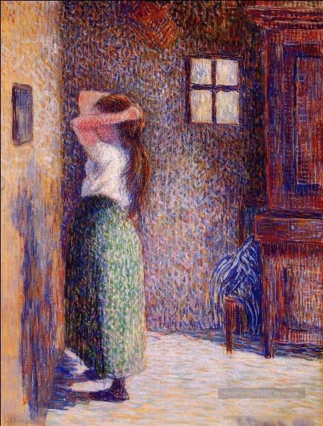 """Quel peintre est l'auteur du tableau """"Jeune fille à sa toilette"""" ?"""
