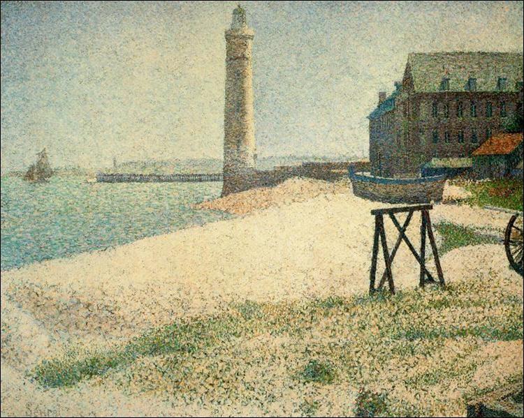 """Quel peintre est l'auteur du tableau pointilliste """"Hospice et le phare à Honfleur"""" ?"""