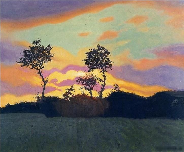 """""""Paysage au coucher du soleil"""" est l'œuvre de quel peintre ?"""