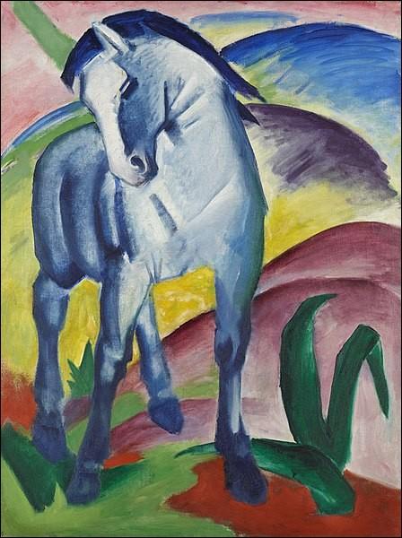 """Quel expressionniste allemand a peint """"Le cheval bleu"""" ?"""