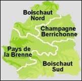 Les régions naturelles du Boischaut Nord et Sud se situent dans le Centre-Val-de-Loire.