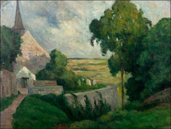"""Qui a peint """"Rolleboise, l'église et le cimetière"""" ?"""