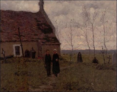 """Qui a peint """"Dans le cimetière"""" ?"""