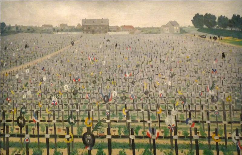 """Qui a peint """"Le cimetière militaire de Châlons-sur-Marne"""" ?"""