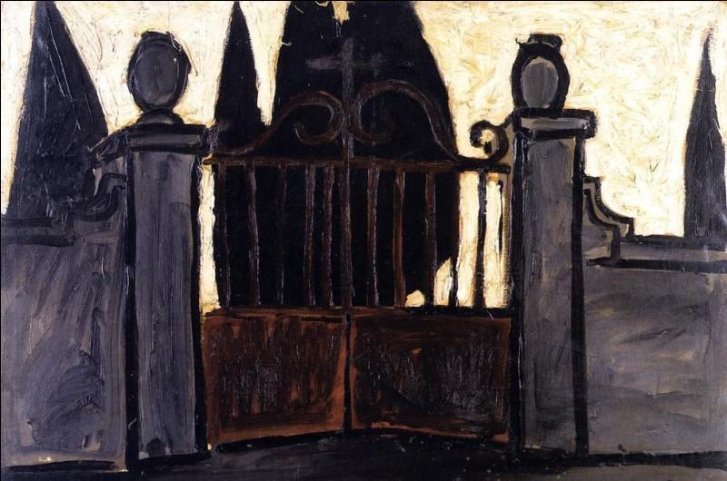 """Qui a peint """"La porte du cimetière"""" ?"""