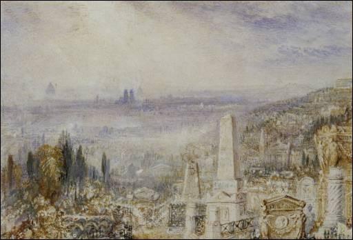 """Qui a peint """"Vue de Paris depuis le cimetière du Père Lachaise"""" ?"""