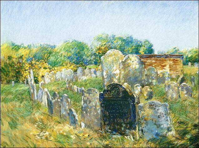 """Qui a peint """"Le cimetière colonial à Lexington"""" ?"""