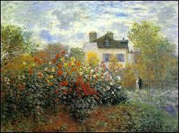 """Qui a peint """"Le jardin de Monet à Argenteuil"""" ?"""