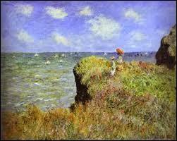 """Qui a peint """"Promenade sur la falaise, Pourville"""" ?"""