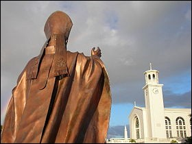 Sur quelle île des États-Unis la cathédrale du Doux-Nom-de-Marie se situe-t-elle ?