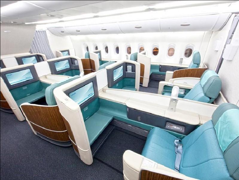 Ici, les plus hautes personnalités peuvent prendre place. Dans un avion de ligne classique, à quelle classe correspond-il ?