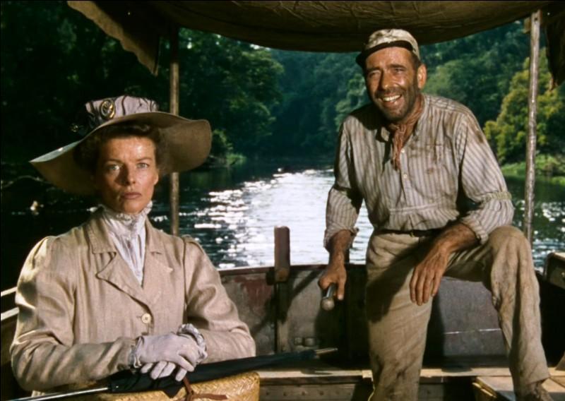 Le cadre est l'Afrique orientale en 1915 : Charlie Allnut, américain, transporte sur son bateau toutes sortes de marchandises qu'il distribue dans les villages. Quel est ce film, avec Katharine Hepburn et Humphrey Bogart, qui évoque l'Afrique Orientale allemande et la Bataille du Lac Tanganyika ?