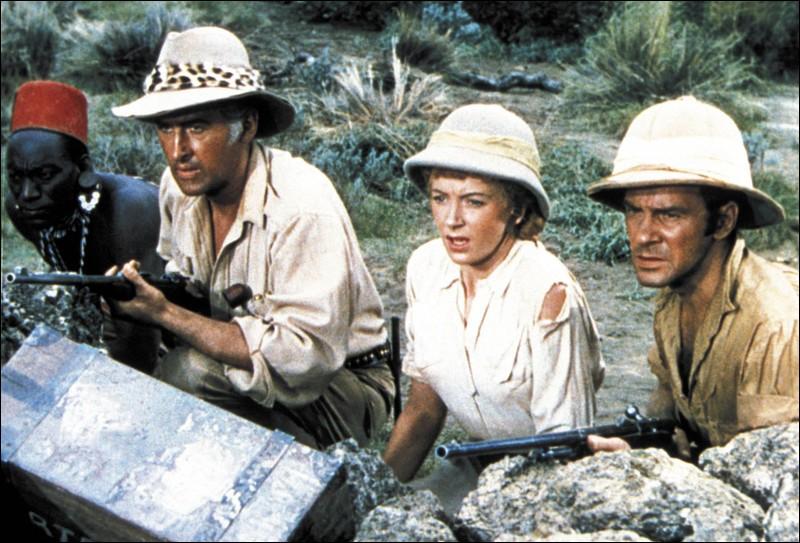 En 1897, Elizabeth Curtis (Deborah Kerr), accompagnée de son frère et du guide Allan Quatermain, (Stewart Granger) part sur les traces de son mari disparu au coeur de l'Afrique. Quel est ce film ?